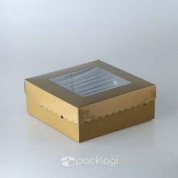 Kotak Kue Gold 20 x 20