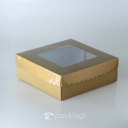 Kotak Kue Gold 28 x 28