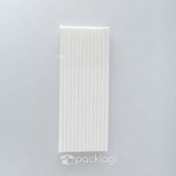 Sedotan Kertas Putih 20cm
