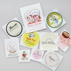 Sticker Label Cromo
