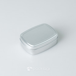 Kaleng Pomade Kotak Silver