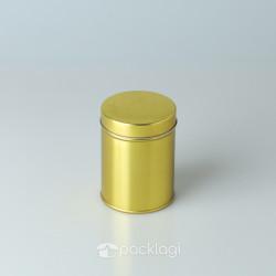Kaleng Bulat Emas 7.5 x 10cm