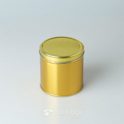 Kaleng Bulat Emas 10 x 10 cm